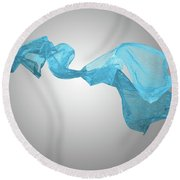 Abstract Fabric Background Round Beach Towel