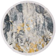 Abstract Texture Old Plaster Round Beach Towel