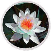 Abstract Waterlily Round Beach Towel