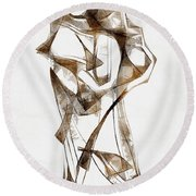 Abstraction 2924 Round Beach Towel