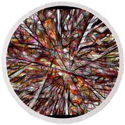 Abstraction 3101 Round Beach Towel