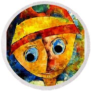 Abstraction 3203 Round Beach Towel