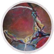 Abstraction#8 Round Beach Towel