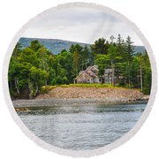 Coastal Acadia Round Beach Towel