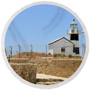 Acre, The Lighthouse  Round Beach Towel