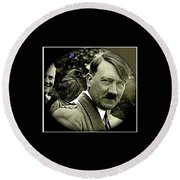 Adolf Hitler And A Feathered Friend C.1941-2008 Round Beach Towel
