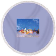 afternoon fun Edward Henry Potthast Round Beach Towel