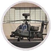 Ah-64d Apache Longbow At Pinal Airpark Round Beach Towel