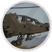 Ah-64d Apache Longbow Lifts Round Beach Towel