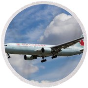 Air Canada Boeing 767 Round Beach Towel