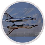 Aircrafts Round Beach Towel