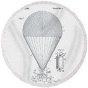 Airship Patent 1913 Round Beach Towel