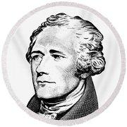 Alexander Hamilton - Founding Father Graphic  Round Beach Towel