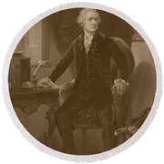 Alexander Hamilton - Two Round Beach Towel