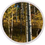 All That Is Gold Round Beach Towel