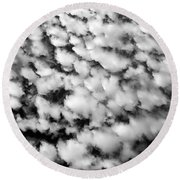 Alltocumulus Cloud Patterns Round Beach Towel
