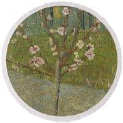 Almond Tree In Blossom Arles, April 1888 Vincent Van Gogh 1853 - 1890 Round Beach Towel
