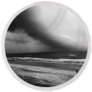 Alone In St. Augustine Round Beach Towel