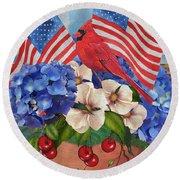 America The Beautiful-jp3210 Round Beach Towel