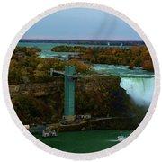 American Falls Niagara Round Beach Towel