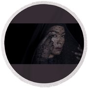 American Horror Story Round Beach Towel