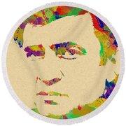 American Legend Johnny Cash Round Beach Towel