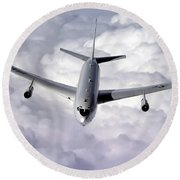 An E-8c Joint Surveillance Target Round Beach Towel