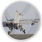 An Fa-18f Super Hornet Taking Round Beach Towel
