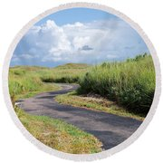 An Inviting Path Round Beach Towel