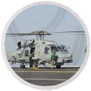 An Mh-60r Seahawk Embarked Aboard Uss Round Beach Towel