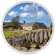 Ancient Welsh Church Round Beach Towel