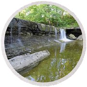 Anderson, Falls, Indiana Round Beach Towel
