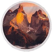 Andes Mountains Round Beach Towel