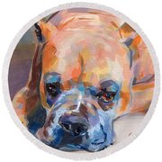 Andre Round Beach Towel by Kimberly Santini