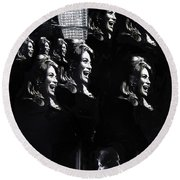 Angie Dickinson Young Billy Young Many Angies Old Tucson Arizona 1968-2013 Round Beach Towel
