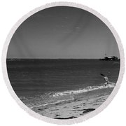 Anna Maria Shoreline Round Beach Towel