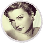 Anne Baxter, Vintage Actress Round Beach Towel