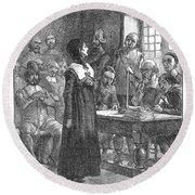 Anne Hutchinson (1591-1643) Round Beach Towel