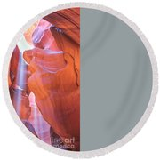 Antelope Canyon Vertical Round Beach Towel