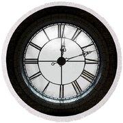 Antique Backlit Clock Round Beach Towel