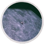 Apollo Mission 16 Round Beach Towel