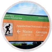 Appalachian National Scenic Trail Round Beach Towel