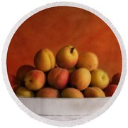 Apricot Delight Round Beach Towel by Priska Wettstein