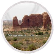 Arches National Park 23 Round Beach Towel