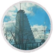 Architectural Skies Round Beach Towel