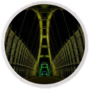 Architecture Round Beach Towel