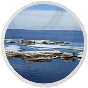 Arctic Ice Round Beach Towel