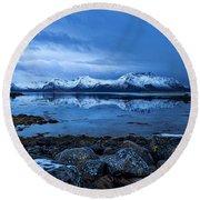 Arctic Reflections Round Beach Towel