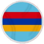 Armenia Flag Round Beach Towel
