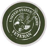 Army Veteran Round Beach Towel
